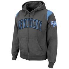 4f74bc7758 Kentucky Wildcats Triumph Full Zip Hoodie - Charcoal Louisiana State  University