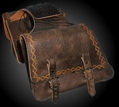 Brown leather saddle bags Leather Saddle Bags, Leather Art, Custom Leather, Leather Tooling, Brown Leather, Leather Motorcycle Saddlebags, Motorcycle Leather, Motorcycle Bags, Bike Bag