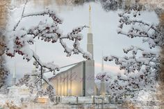 Beautifully Remodeled Boise LDS Temple Winter Scene    Find more LDS inspiration at: www.MormonLink.com