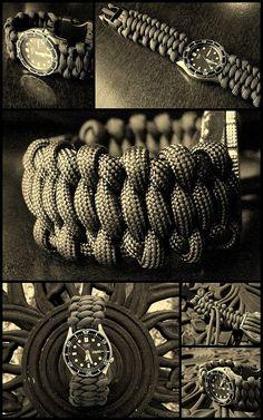 'Surreal Solomon Bar' paracord watchband... by Stormdrane, via Flickr