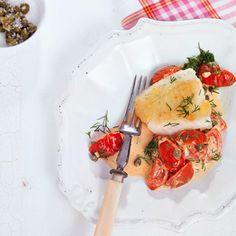 Fischfilet mit Schmortomaten