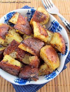 Crispy Roasted Mustard Potatoes