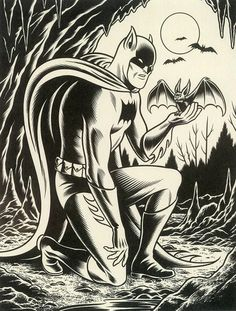generic-art:  batman by charles burns