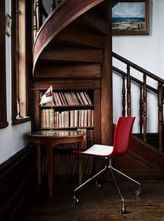Stair library. Posted on The Life of Polarn Per blog. November 2009