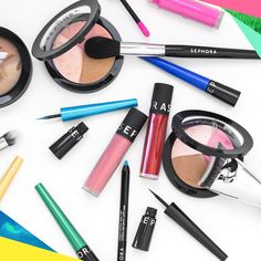 It's music festival season! We're all about melt-proof lip stains and colorful eyeliner.