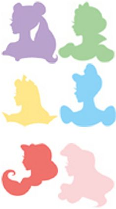 Silhouettes by Disney  six princess silhouettes