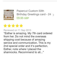 Review 147 #thankful for this amazing feedback #etsy #lovinglypersonalised