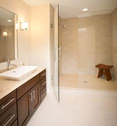 Guest #bath with a glass #shower enclosure. #housetrends