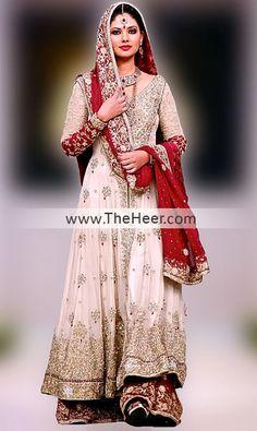 BW6103 Off White & Lava Crinkle Chiffon Sharara Latest Pakistan Fashion Shows Rockville, Pakistani Internation Fashion Shows California San Diego Bridal Wear