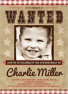 Wanted Sign 5x7 Stationery Card by Float Paperie