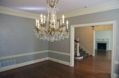 The 45th Symphony Designers' Showhouse includes many historical features, such as this chandelier. www.showhouse.org.