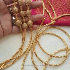 Thaali mugappu Gold Chain Design, Gold Bangles Design, Gold Jewellery Design, Diamond Jewellery, Real Gold Jewelry, Gold Jewelry Simple, Indian Jewelry Sets, Bridal Jewelry Sets, Gold Mangalsutra Designs