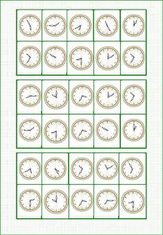 Elementary Spanish Classroom, Spanish Classroom Activities, Bingo, Weather Worksheets, Worksheets For Kids, Spanish Lessons For Kids, Learning Spanish, Telling Time In Spanish, Telling Time Activities