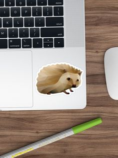 Bring out your wild side with our geometric hedgehog art. Geometric Animal, Hedgehog Art, Stickers, Paper, Artwork, Animals, Hedgehog, Work Of Art, Animales