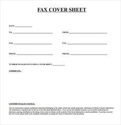printable fax sheet
