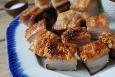 crunchy pieces of chinese crispy pork belly