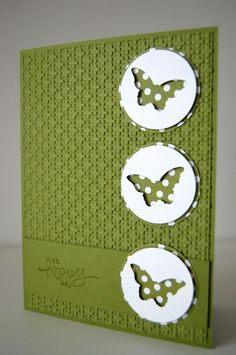 card ideas using embossing folders - Google Search