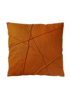Throw Pillow [De Kussenfabriek 'Gregor']  decorative cushion/orange sierkussen/oranje reminder: more color (azuurblauw)