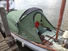 David Jillings used the frame and rainfly portion of a Vango Tempest 300 (3 person tent) on his Drascombe Longboat