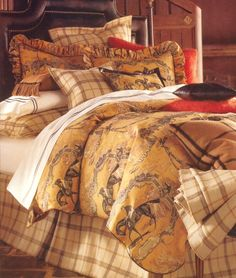 Toile Bedding - Shop French Toile Bedding Sets, The Home Decorating Company Offers The Best Toile De Jouy Bed Sets Equestrian Bedroom, Equestrian Decor, Equestrian Style, Equestrian Fashion, Toile Bedding, Bedding Sets, Master Bedroom, Bedroom Decor, Bedroom Ideas