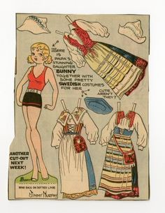 78.2391: Bunny-Sweden   paper doll   Paper Dolls   Dolls   National Museum of Play Online Collections   The Strong