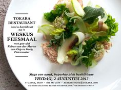 """ONE NIGHT ONLY! Join Tokara Restaurant on Friday 2 August for an unique West Coast dining experience with guest chef and real deal forager Kobus van der Merwe of """"Oep ve Koep"""" in Paternoster.  Call 021 885 2550 or or e-mail reservations@tokara.com to book!"""