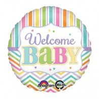 Pastel Rainbow Chevron Welcome Baby Balloon says 'Welcome Baby' in rainbow colors. Pastel Rainbow Chevron Welcome Baby Balloon is round and made of durable foil. Baby Shower Plates, Baby Shower Themes, Baby Boy Shower, Wholesale Party Supplies, Kids Party Supplies, Baby Shower Centerpieces, Baby Shower Decorations, Welcome Baby Party, Chevron