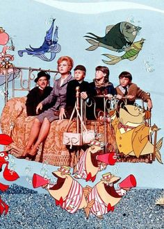 bedknobs and broomsticks...I only watched this a million times when I was a kid :)