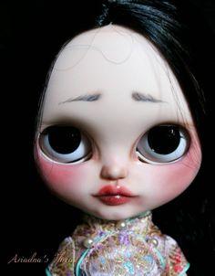 Jade. OOAK Custom Blythe doll.