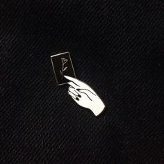 Image of Calling Card Enamel Pin