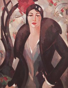 Art Deco portrait by J.D. Fergusson, 1930, Grace McColl, Private collection, The Richard Green Gallery, London