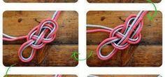 Cómo hacer un collar de nudos con cordones