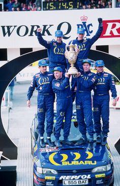 Colin McRae & Subaru World Rally Champion 1995 (Subaru Impreza Subaru Rally, Subaru Impreza Wrc, Wrx, Rally Drivers, Rally Car, Colin Mcrae, Sport Cars, Motor Sport, Car And Driver