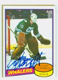 becc30156 John Garrett AUTO 1980-81 Topps Whalers by Regular Topps Issue.  5.00. This  card was signed by John Garrett and authenticated by JSA - a leading 3rd  party ...