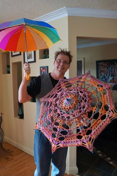How to cover cheap Walmart umbrella with crochet