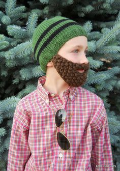 Beard Hat, Knit Boys & Mens Cap, Knitted Beanie Beard, Pick Hat and Beard Color, Toddler Children Youth Teen Adult Knitting. $29.99, via Etsy. @Kristi Thomas, I couldn't help but think of you.  Would you like 5 of these?
