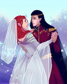The wedding of Fëanor and Nerdanel