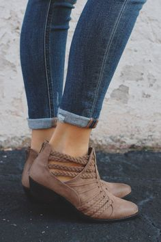 Taupe Braided Cutout Strappy Ankle Booties Sochi-87 – UOIOnline.com: Women's Clothing Boutique