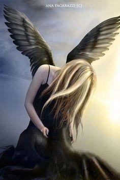 Sad Angel Picture from Angel. Sad Angel, Angel And Devil, Angels Among Us, Angels And Demons, Fallen Angels, Dark Angels, My Fantasy World, Dark Fantasy, Lightroom