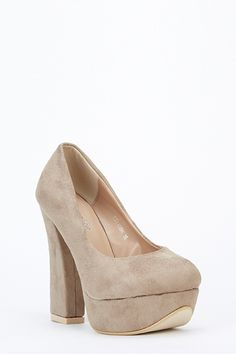 Suedette Block Heels - BLACK - £5 - on Everything5pounds.com Everything 5 Pounds discount codes here - http://www.voucherix.co.uk/vouchers/everything-5-pounds/