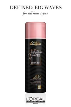 Looking to create big waves? The new L'Oreal Professionnel Siren Waves will create voluminous curls.
