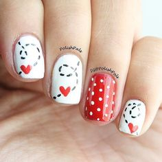 Pin for later: 100 crush-worthy valentine's day nail art ideas 1 маник Valentine's Day Nail Designs, Holiday Nail Designs, Pedicure Designs, Holiday Nails, Valentine Nail Art, Valentines Day, Nail Art Instagram, Pretty Nail Art, Heart Nails