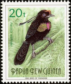 Wahnes's Parotia stamps - mainly images - gallery format