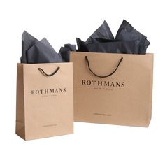 Package Design- Commercial- Custom Retail Packaging- Kraft Paper Shopping Bags for Rothmans