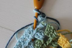 TUSINDFRYD: Sådan laver du Granny Stripes Crochet Necklace, Lost, Stripes, Threading, Crochet Collar