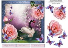 Garden of Roses Topper with Decoupage on Craftsuprint - Add To Basket!