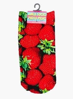 Strawberry Ankle Socks – Living Royal