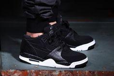 "#Nike Air Flight '89 ""Black Reptile"" Black/White-Cool Grey #sneakers"