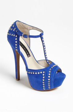 Steven by Steve Madden 'Astrro' Peep Toe Pump - Blue is in this Fall!!!