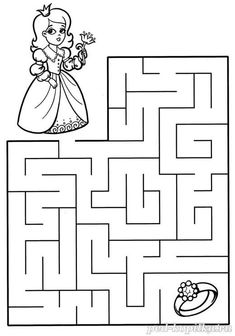 Free Printable Puzzles, Free Printable Numbers, Farm Animals Preschool, Preschool Worksheets, Writing Activities, Activities For Kids, Maze Worksheet, Easy Toddler Crafts, Mazes For Kids